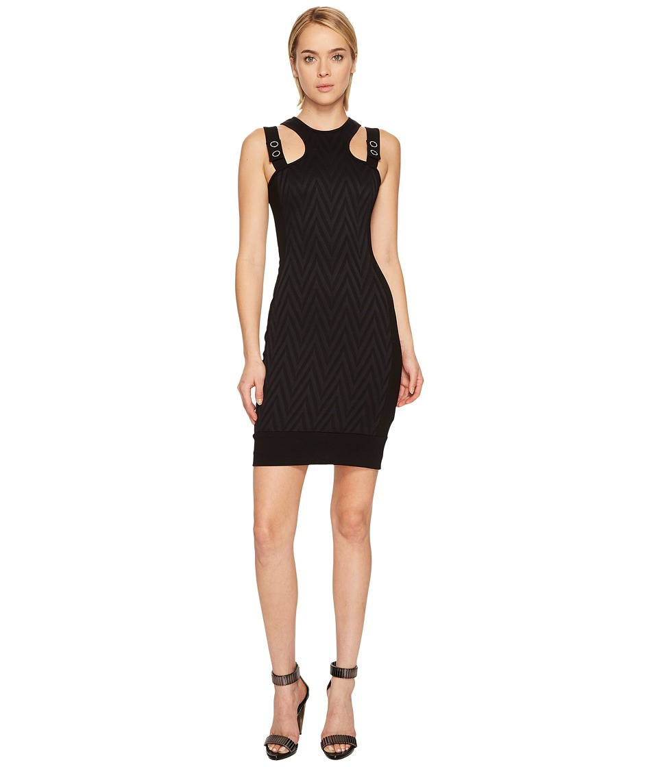 Versace Jeans Chevron Sleeveless Dress (Nero) Women