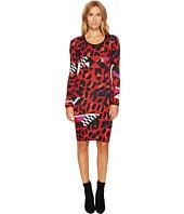 Versace Jeans - Geo Animal Long Sleeve Scoop Neck Dress