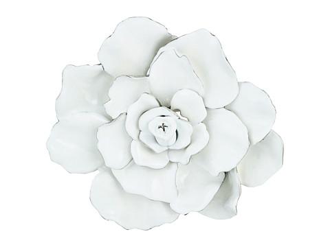 Oscar de la Renta Large Rosette Brooch - White