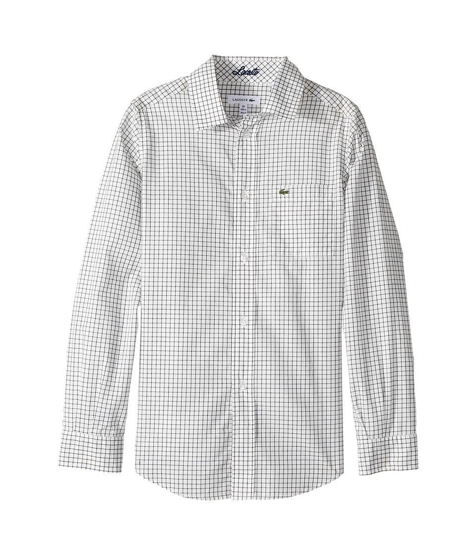 Lacoste Kids - Long Sleeve Poplin Check Shirt