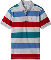 Lacoste Kids - Short Sleeve Small Multi Stripe (Little Kids/Big Kids)