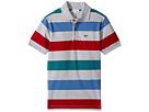 Lacoste Kids - Short Sleeve Small Multi Stripe (Little Kids/Big Kids)