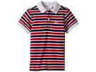 Lacoste Kids - Short Sleeve Small Multi Stripe (Infant/Toddler/Little Kids/Big Kids)
