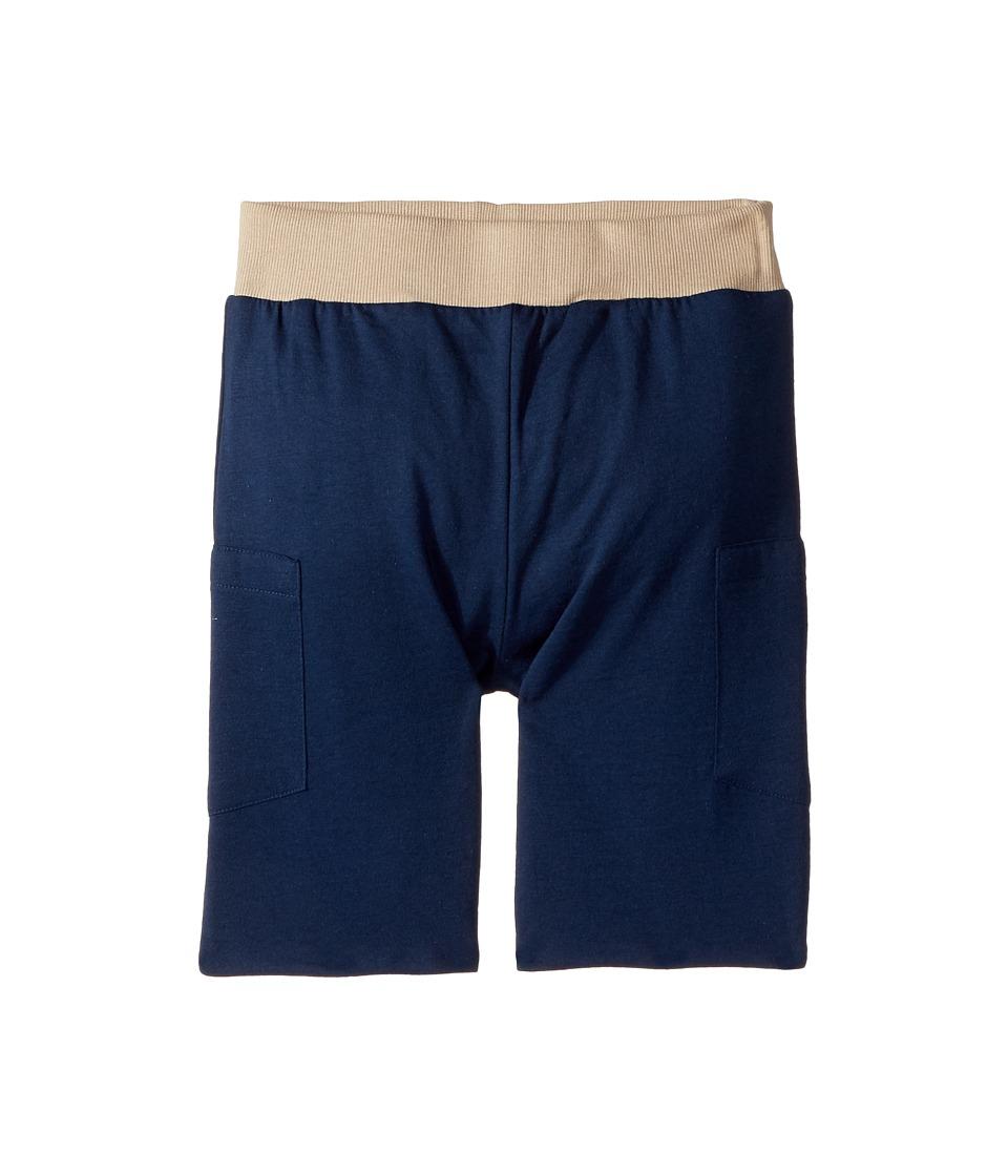 4Ward Clothing - Four-Way Reversible Shorts (Little Kids/Big Kids) (Navy/Oatmeal) Kids Clothing