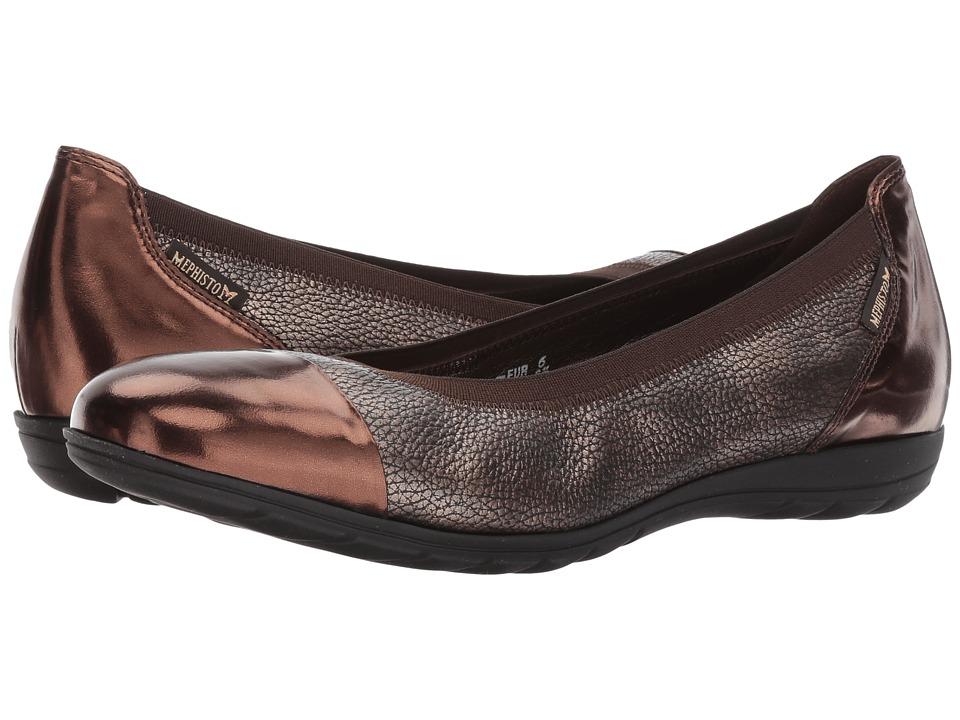Mephisto - Elettra (Dark Brown Magic/Copper Ceylan) Women's Slip on  Shoes