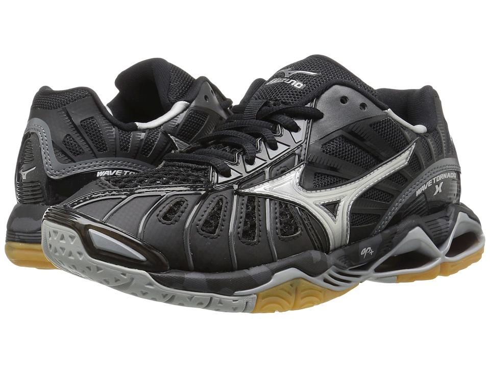 Mizuno Wave Tornado X (Black/Silver) Women's Volleyball S...