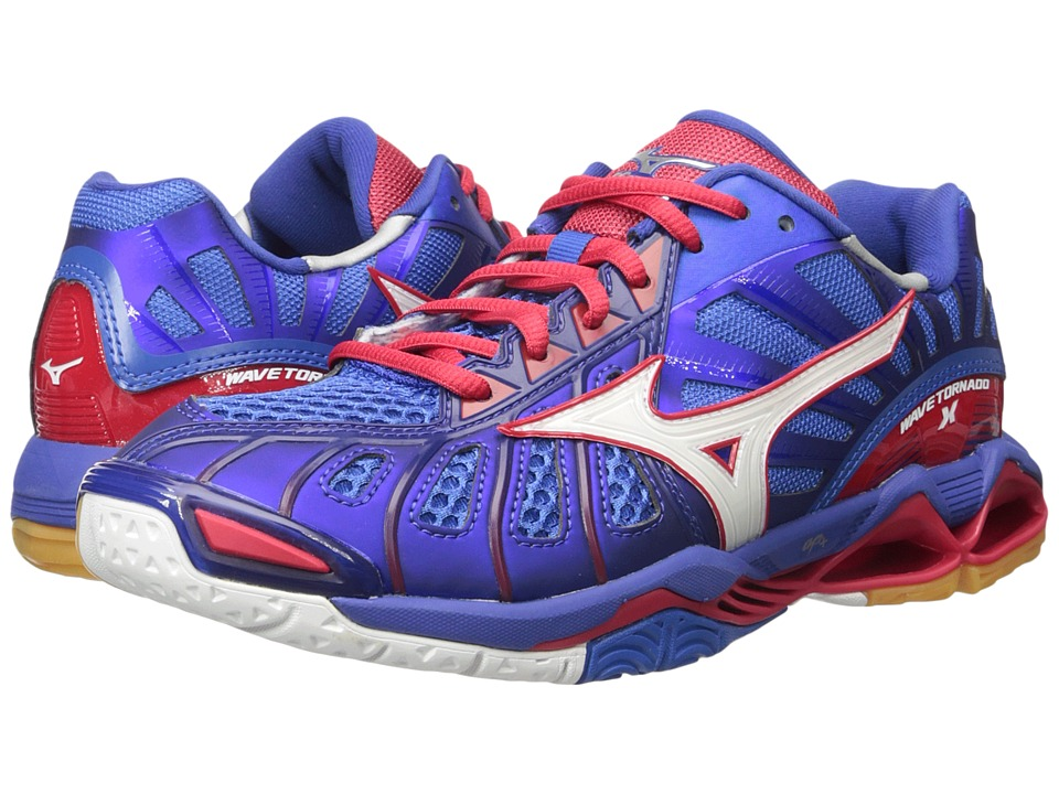 Mizuno - Wave Tornado X (Mazarine Blue/Lollipop) Mens Volleyball Shoes