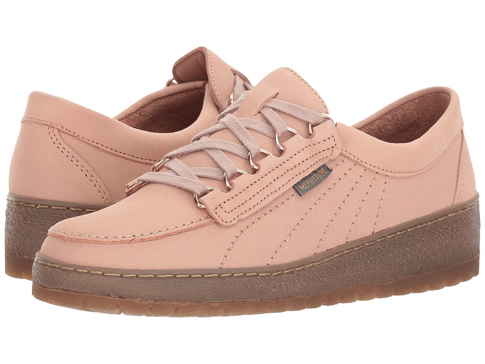 Mephisto - Lady (Pink Nubuck/Nude Magic) Womens Lace up casual Shoes