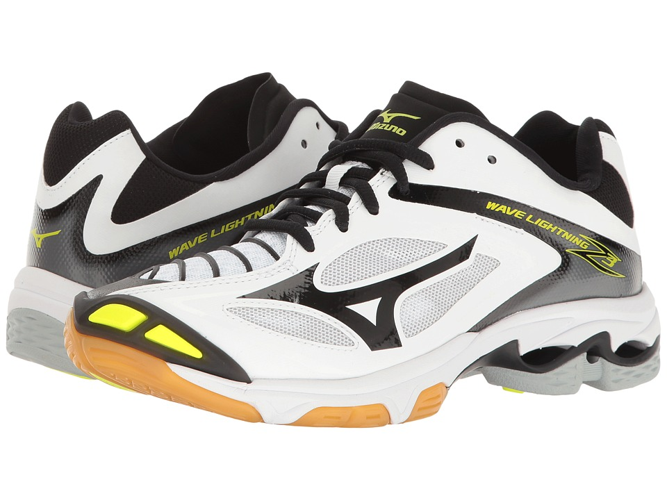 Mizuno - Wave Lightning Z3 (White/Black) Womens Volleyball Shoes