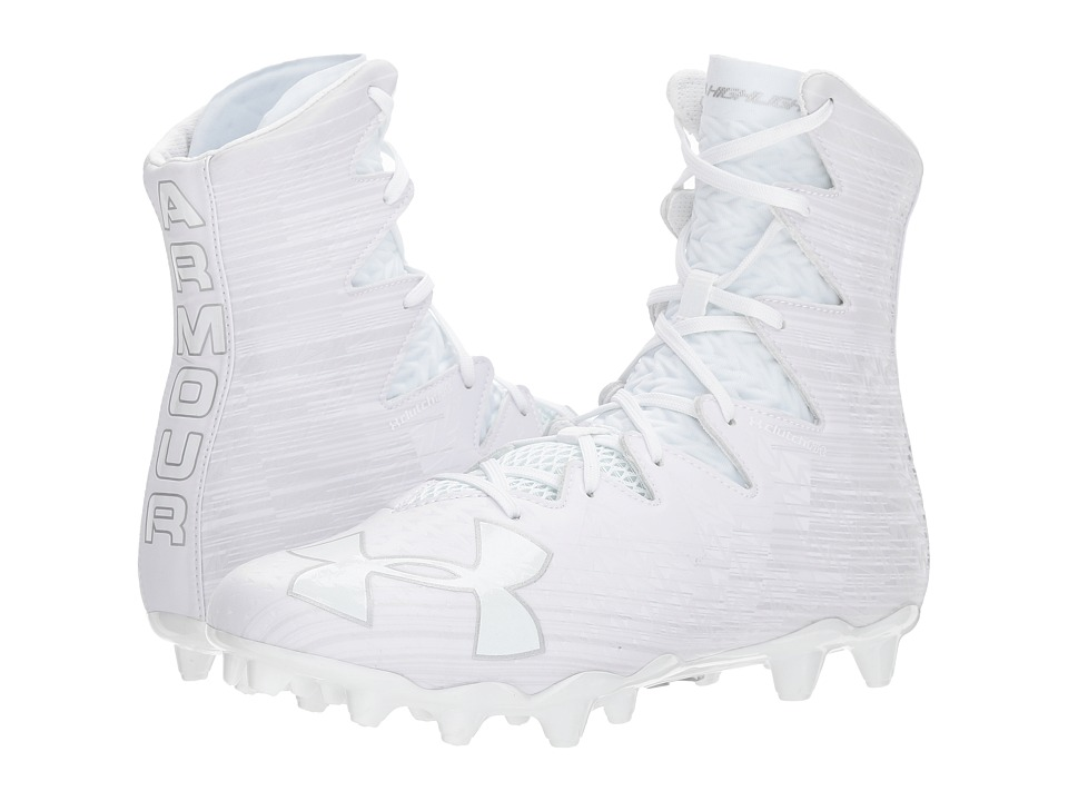 Under Armour - UA Highlight MC (White/Metallic Silver 2) Mens Cleated Shoes
