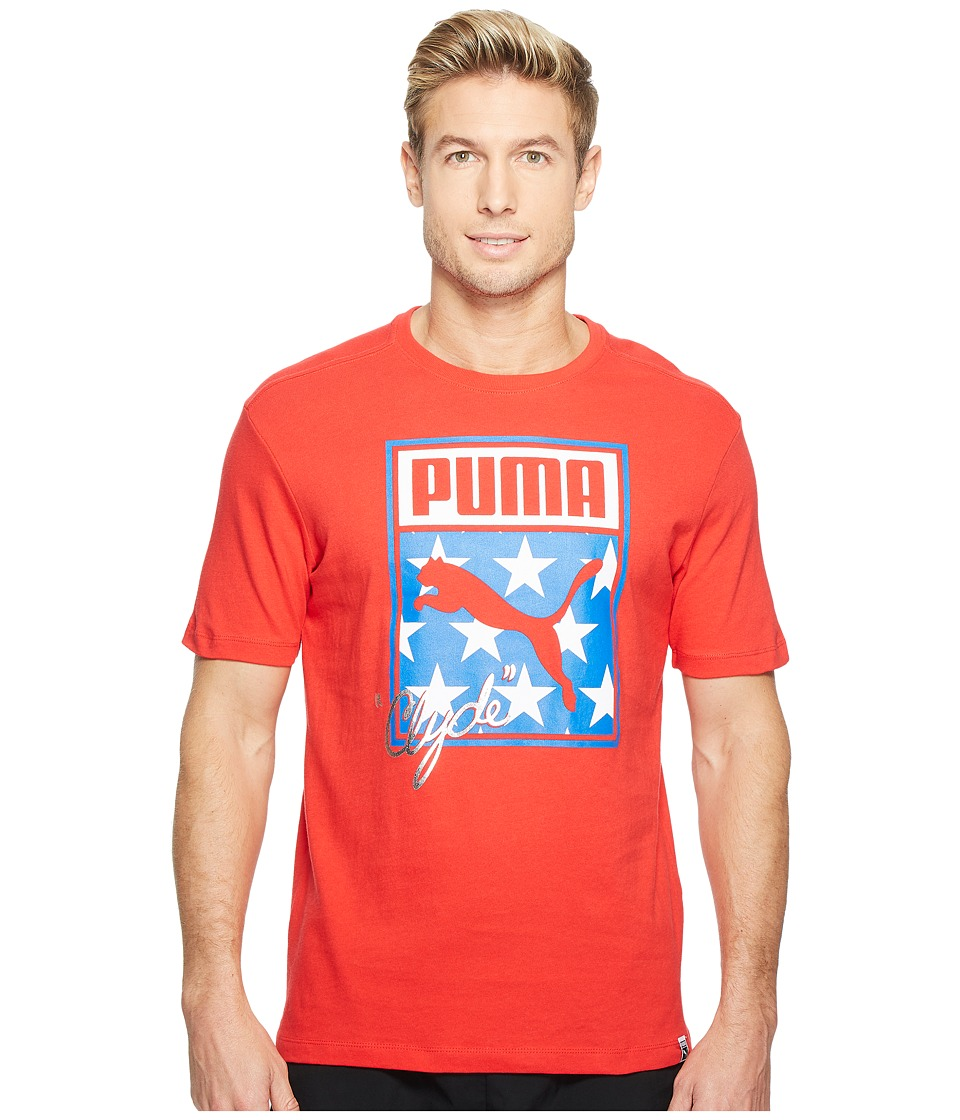 PUMA Sneaker Tongue Logo Tee (Puma Red) Men
