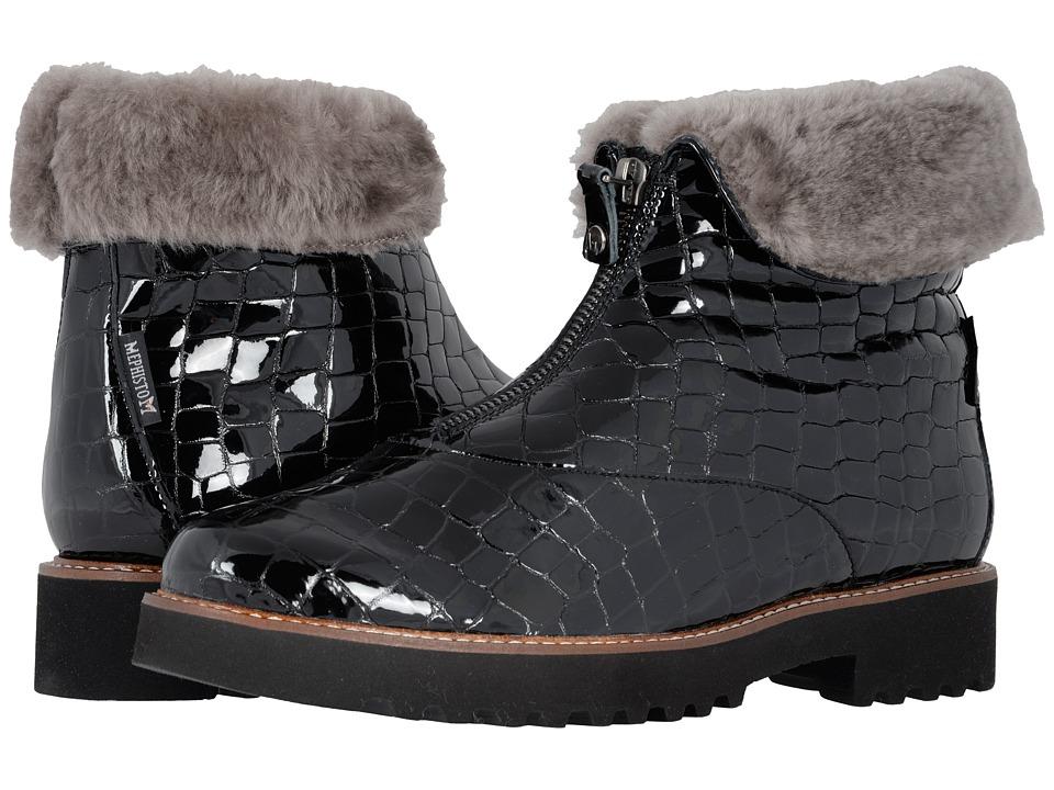 Mephisto - Samia (Black Croco) Womens Shoes