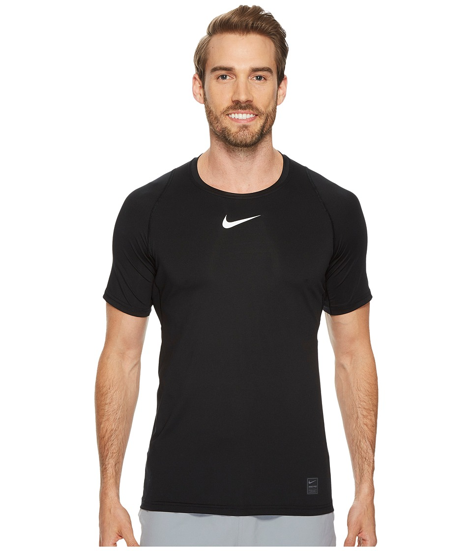Nike Pro Fitted Short Sleeve Training Top (Black/White/Wh...