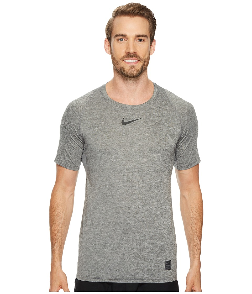 Nike Pro Fitted Short Sleeve Training Top (Carbon Heather...