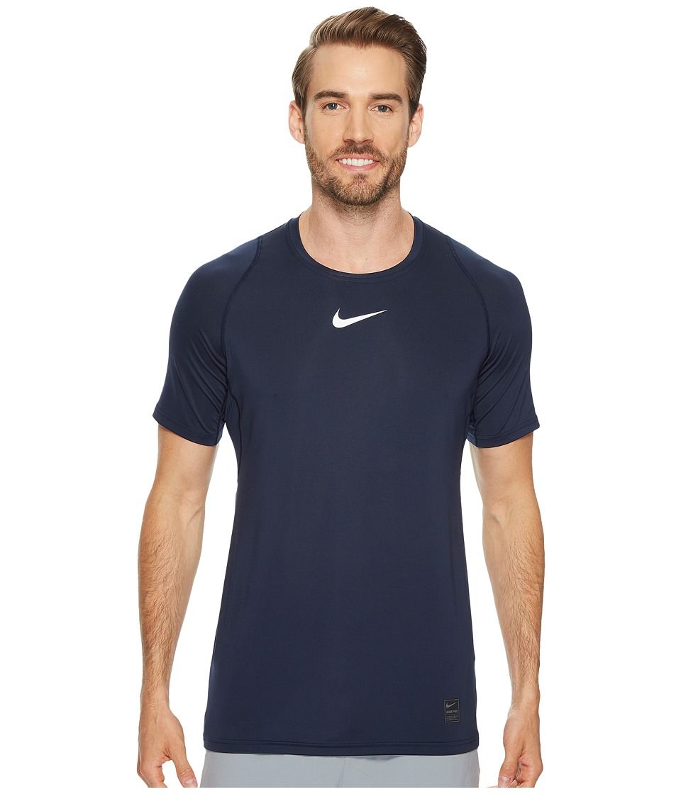 Nike Pro Fitted Short Sleeve Training Top (Obsidian/White...
