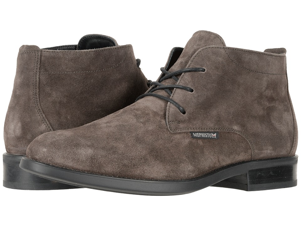 Mephisto - Claudio (Dark Grey Suede) Mens Lace Up Wing Tip Shoes