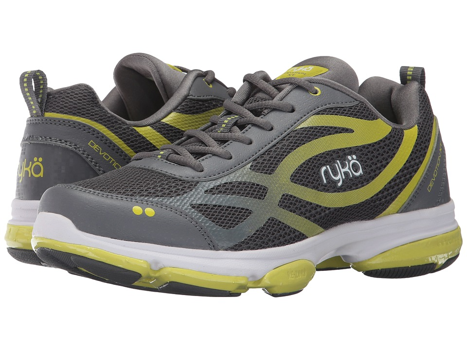 Ryka Devotion XT (Slate Grey/Bright Chartreuse/White) Women's Cross Training Shoes