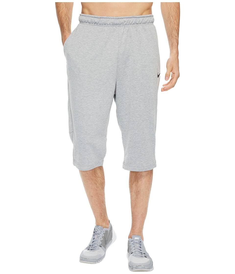 Nike Dry Fleece Long Training Short (Dark Grey Heather/Black) Men