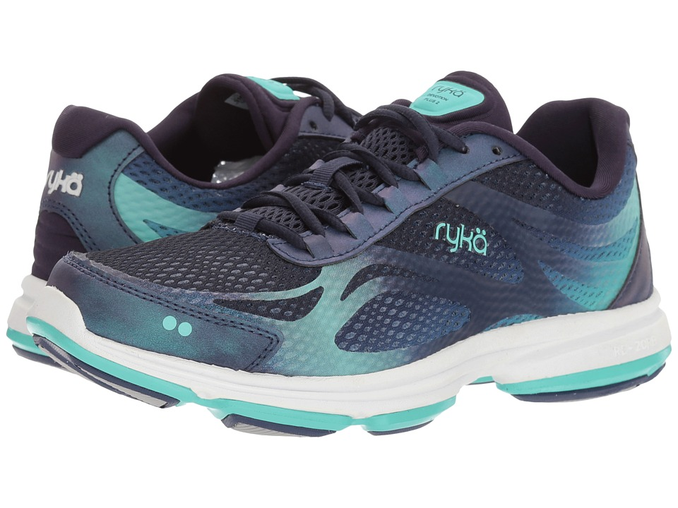 Ryka Devotion Plus 2 (Medieval Blue/Sunlight Teal) Women's Shoes