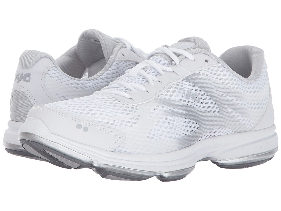 Ryka Devotion Plus 2 (White/Chrome Silver) Women's Shoes