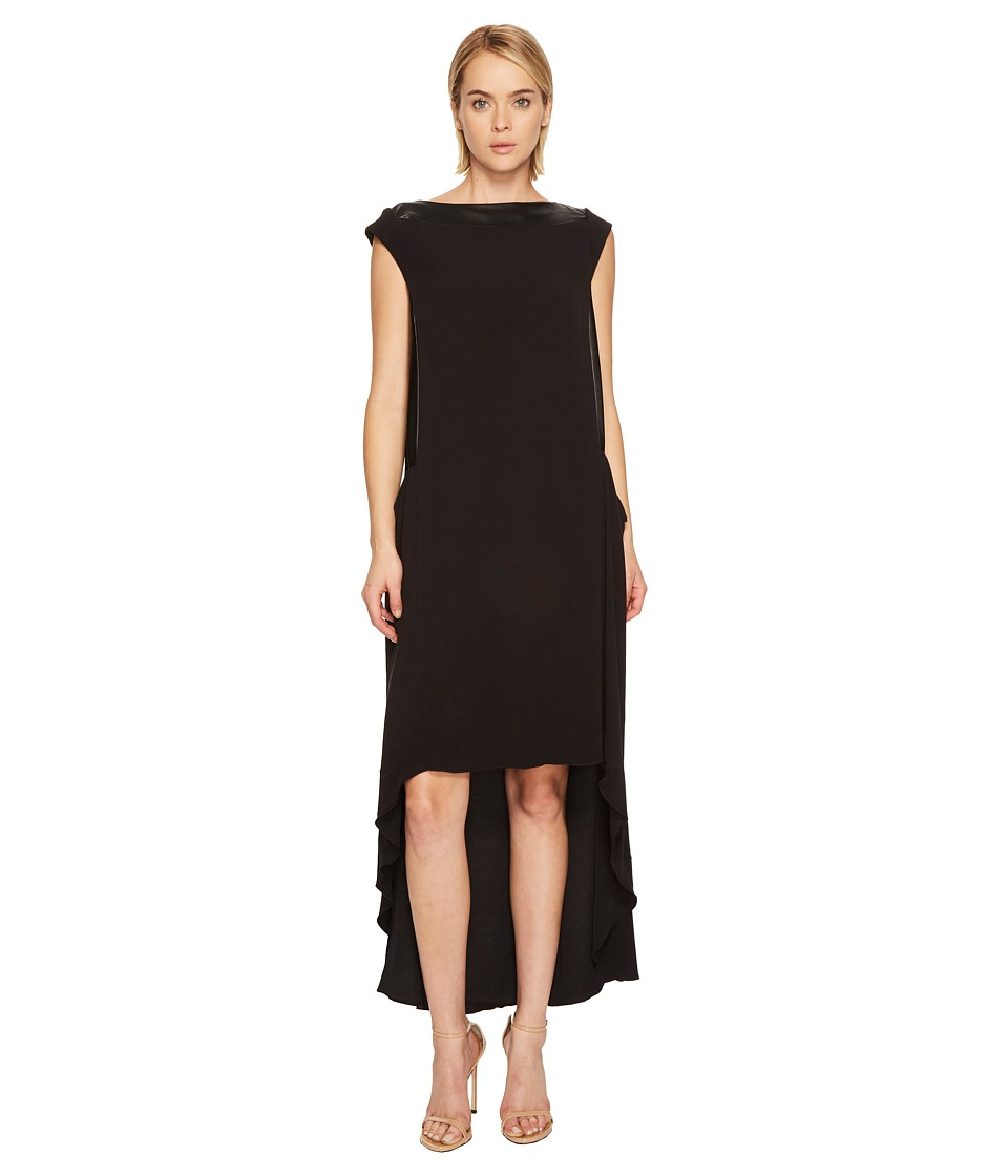 Manila Grace High-Low Sleeveless Dress (Black) Women
