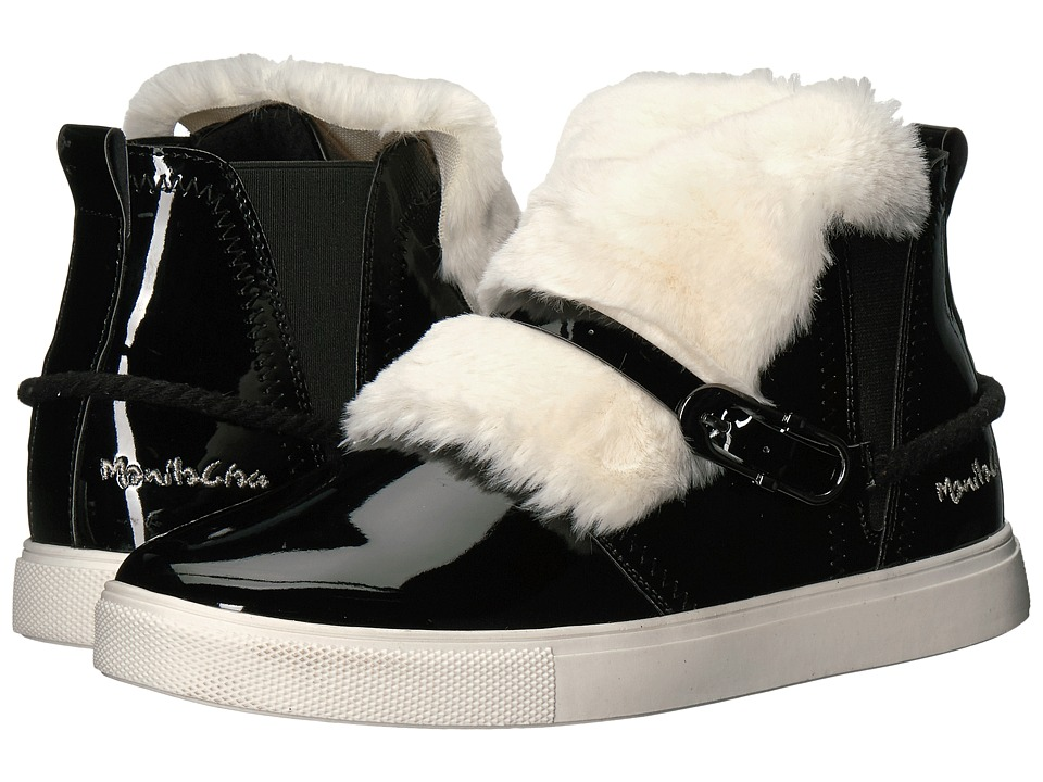 Manila Grace - Faux Fur Front High Top Sneakers