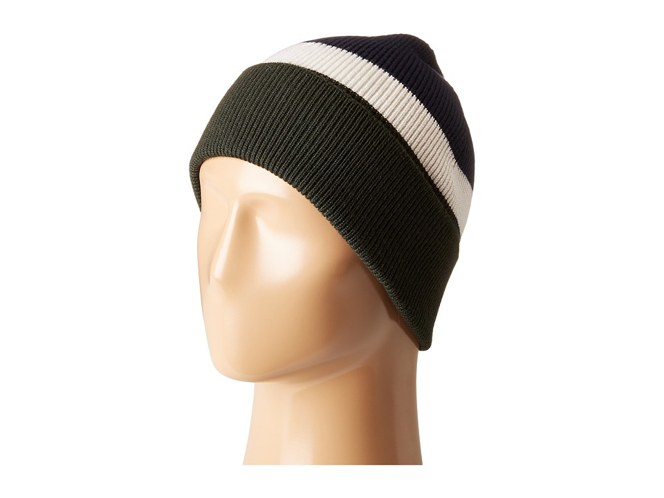Lacoste Made In France Wool Beanie (Sherwood/Flour/Navy B...
