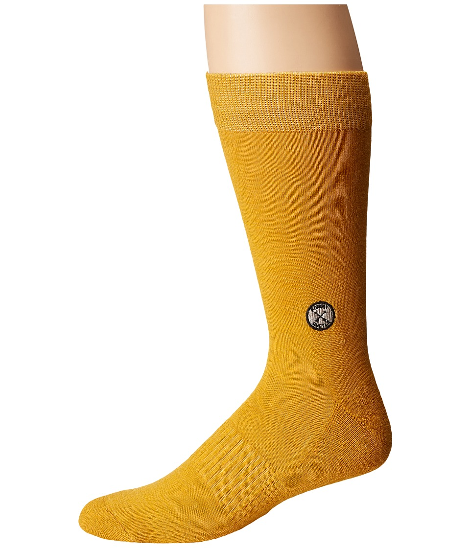 Richer Poorer - Camper Light Wool (Gold) Mens Crew Cut Socks Shoes