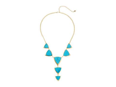 Vera Bradley Triangle Statement Necklace - Gold Tone