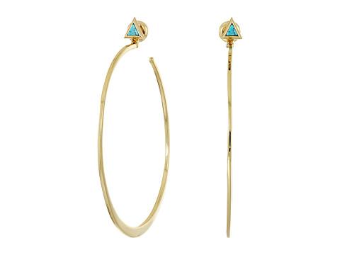 Vera Bradley Triangle Hoop Earrings - Gold Tone