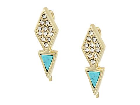 Vera Bradley Triangle Stud Earrings - Gold Tone