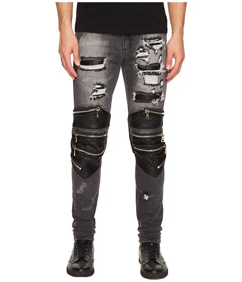 God's Masterful Children Radburn Patchwork Biker Jeans
