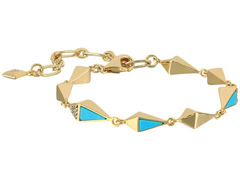 Vera Bradley Triangle Link Bracelet - Gold Tone