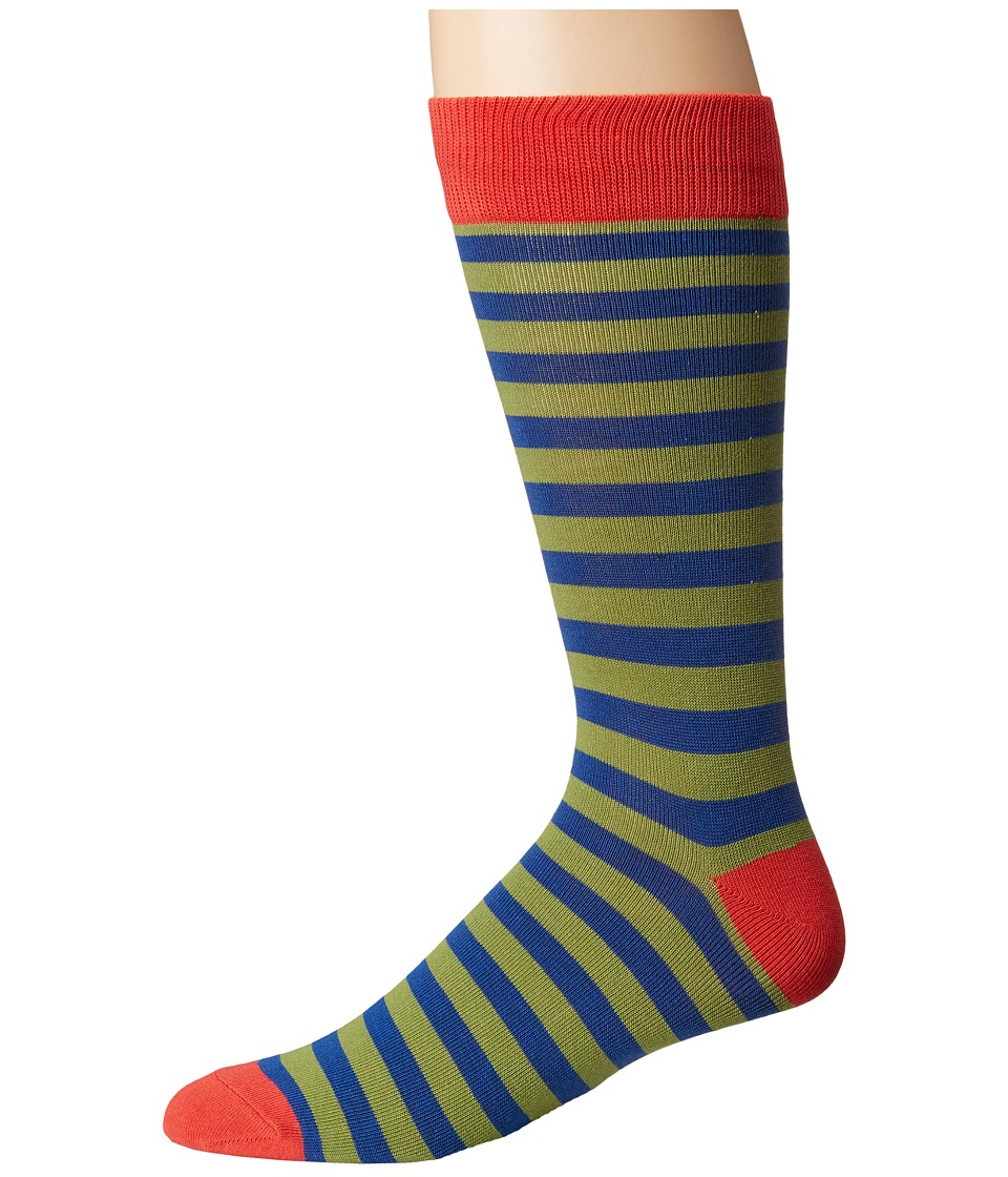 Richer Poorer - Theo (Navy/Red) Mens Crew Cut Socks Shoes