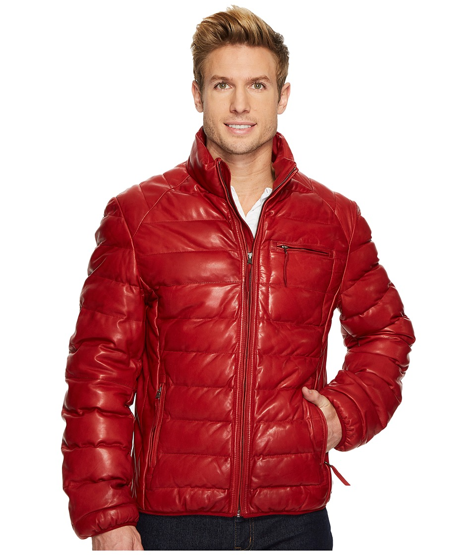 Scully David Very Soft Leather Jacket (Red) Men's Coat