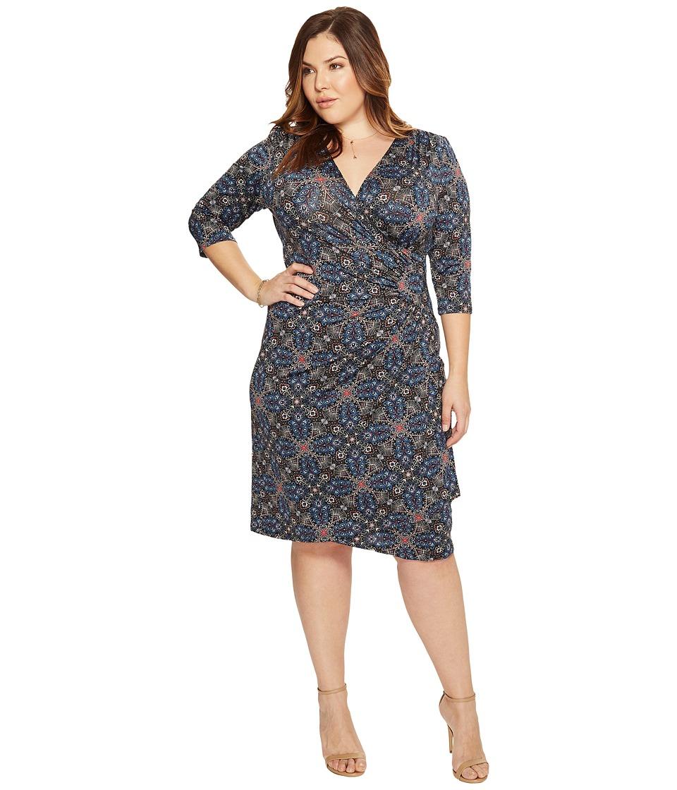 Kiyonna Ciara Cinch Dress (Tile Mix Print) Women
