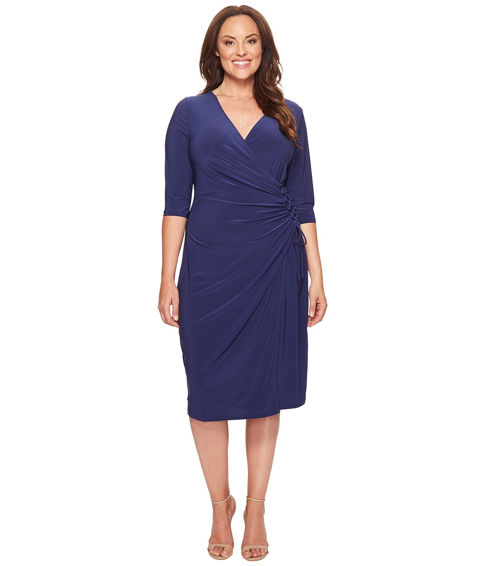 Kiyonna Vixen Cocktail Dress (Nouveau Navy) Women