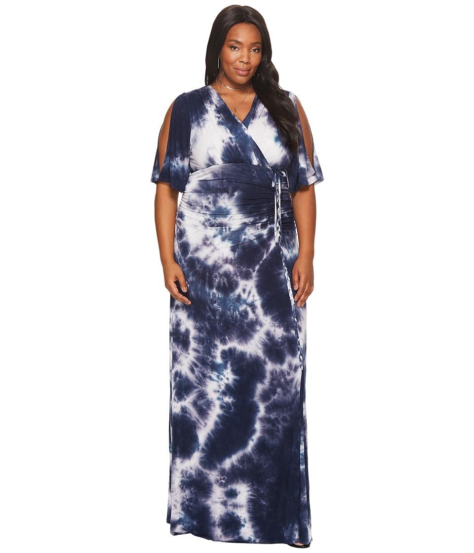 Kiyonna Bella Braided Maxi Dress (To Dye For) Women