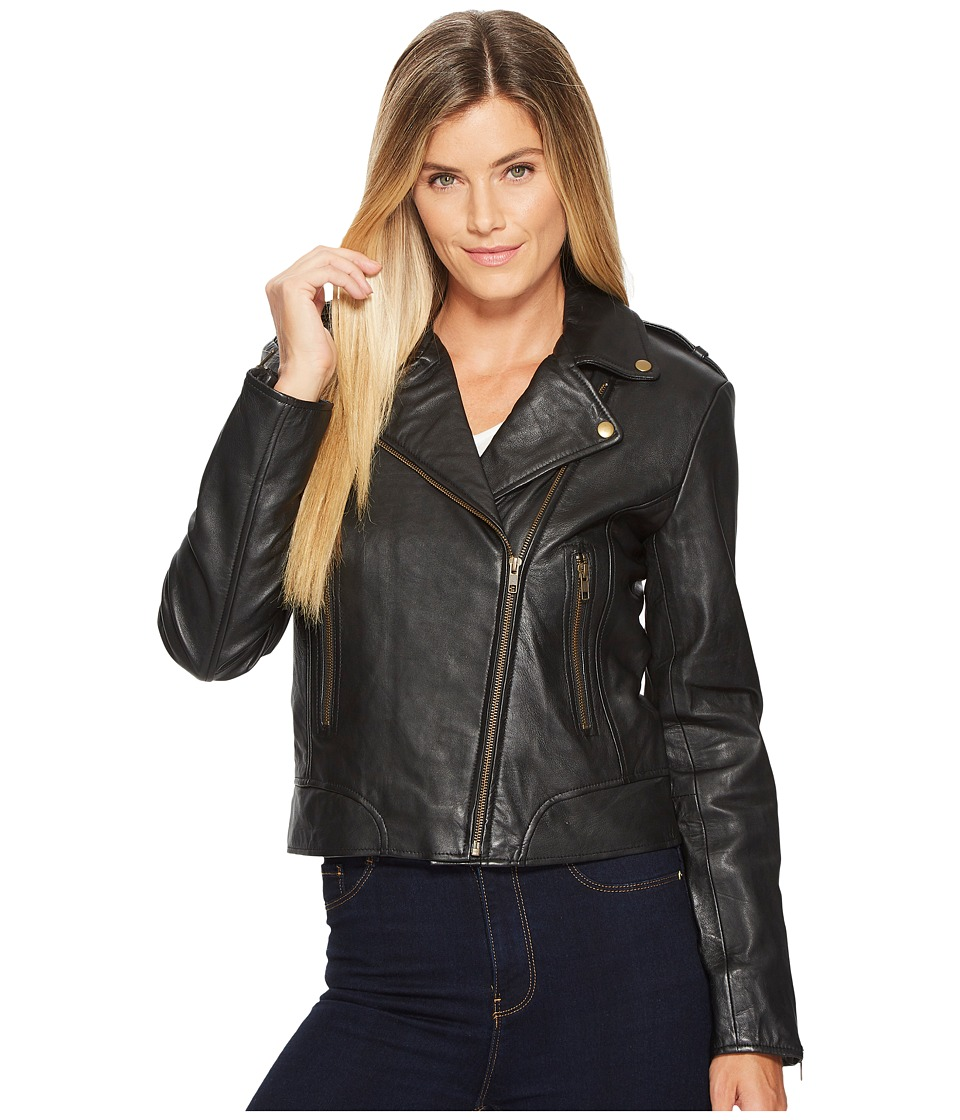 Scully Cosette Concealed Carry Leather Moto Jacket (Black...