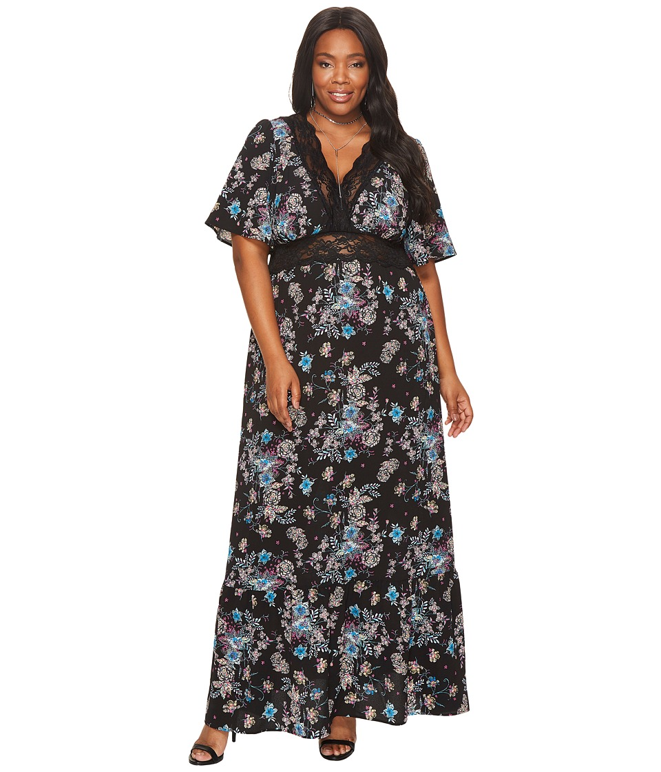 Kiyonna Daydream Maxi Dress (Enchanted Garden) Women