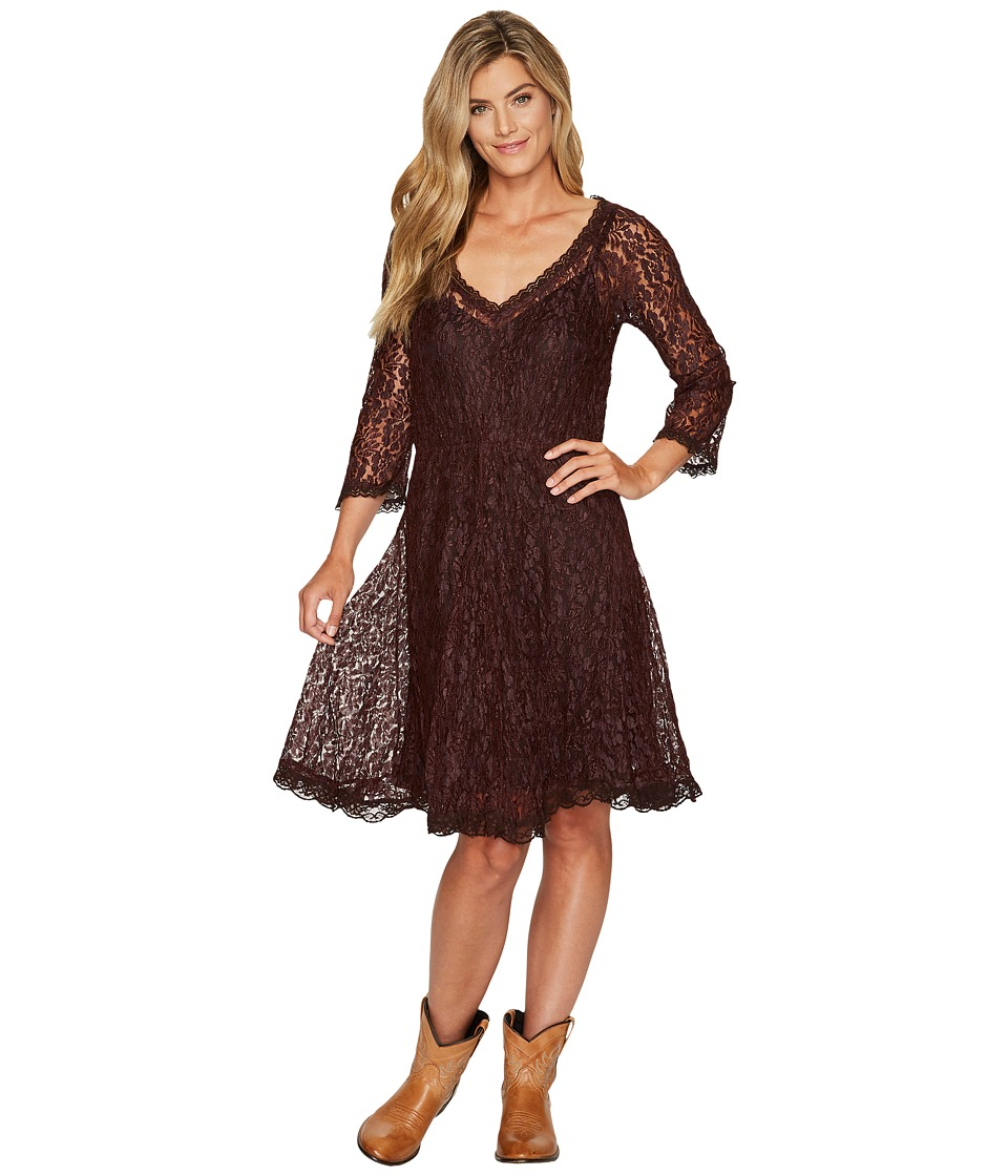Scully Angelica Lace Dress (Red Velvet) Women