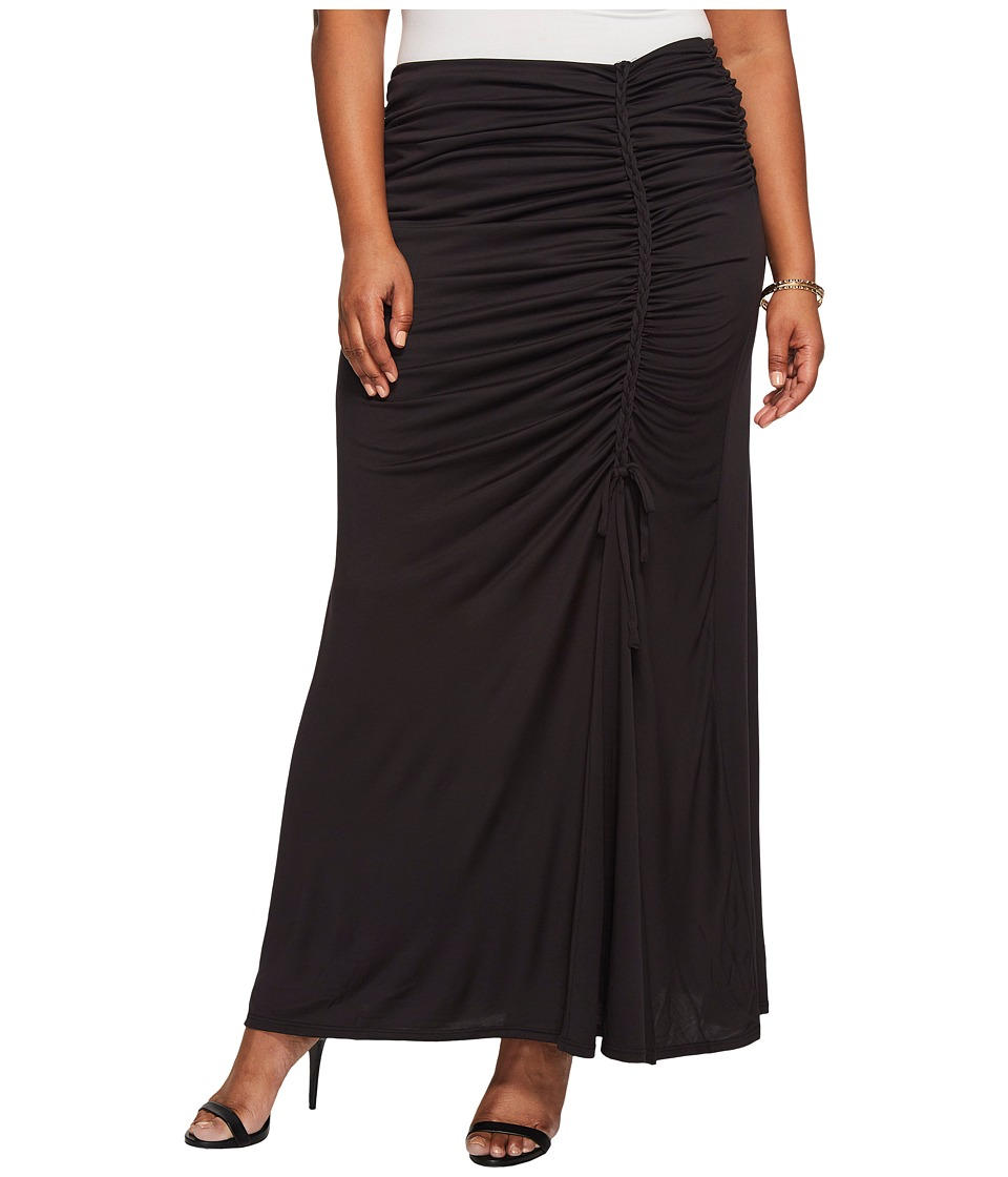 Kiyonna Mermaid Maxi Skirt (Black Noir) Women