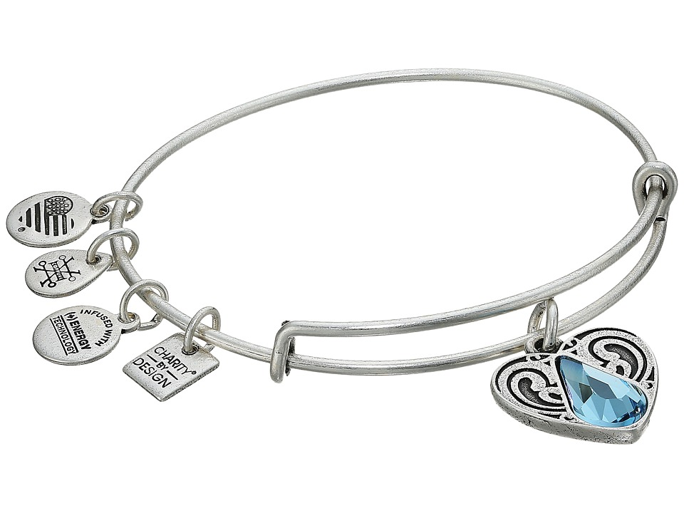 Alex And Ani Charity By Design - Living Water II Bangle (Rafaelian Silver) Bracelet