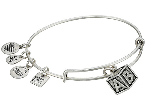 Alex and Ani Charity By Design - March of Dime - Baby Block Bangle - Rafaelian Silver