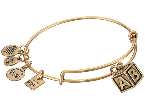 Alex and Ani Charity By Design - March of Dime - Baby Block Bangle - Rafaelian Gold