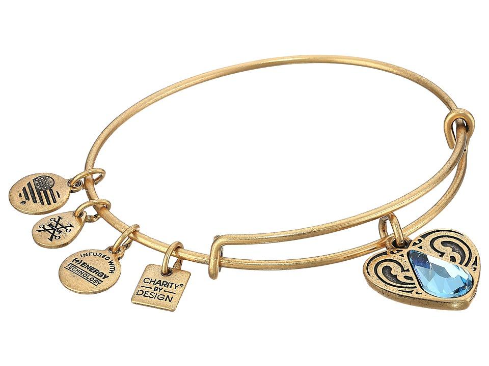 Alex And Ani Charity By Design - Living Water II Bangle (Rafaelian Gold) Bracelet