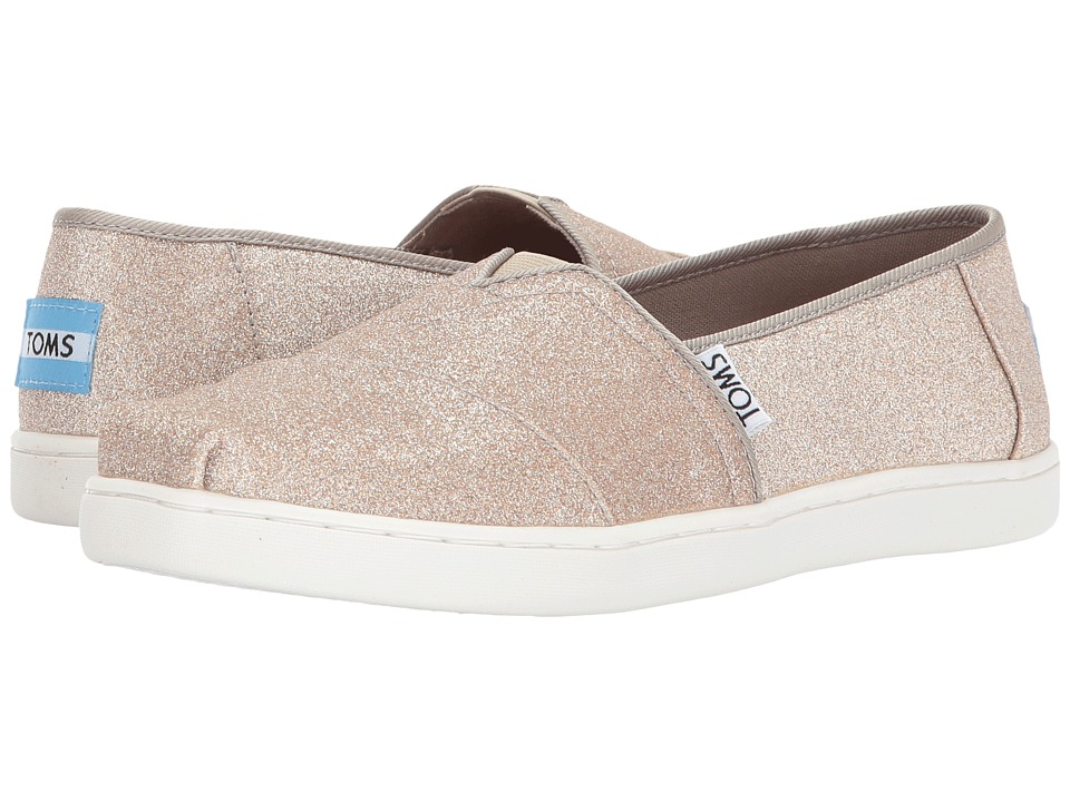 TOMS Kids Alpargata (Little Kid/Big Kid) (Rose Gold Glimmer) Girl's Shoes