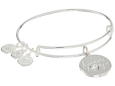 Alex and Ani Color Infusion - Because I Love You Bangle - Shiny Silver