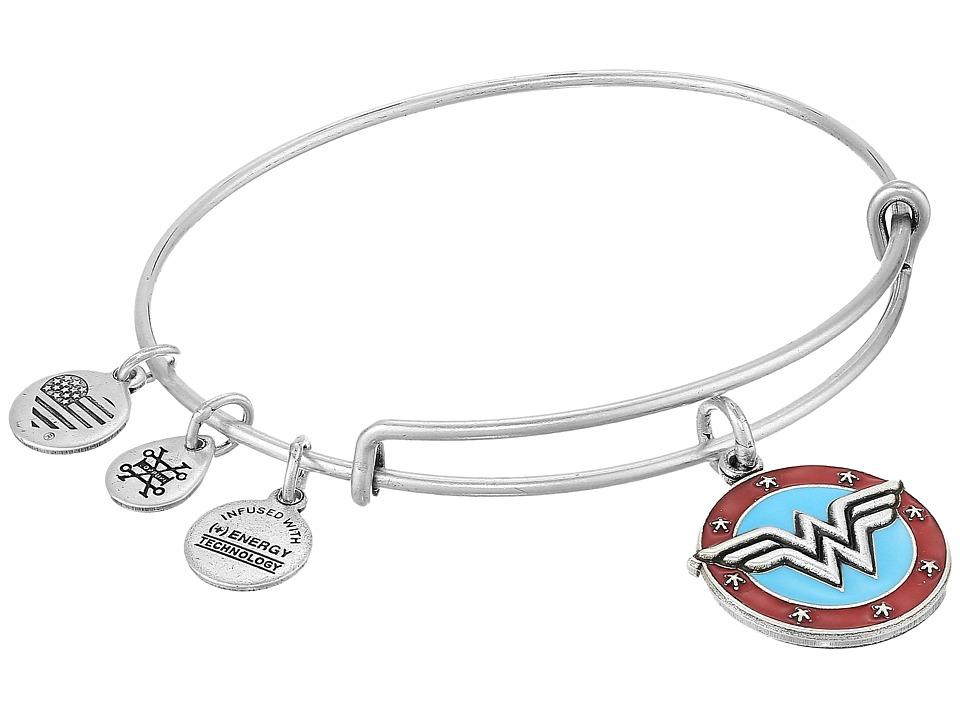 Alex and Ani - Wonder Woman Logo Bangle (Rafaelian Silver) Bracelet