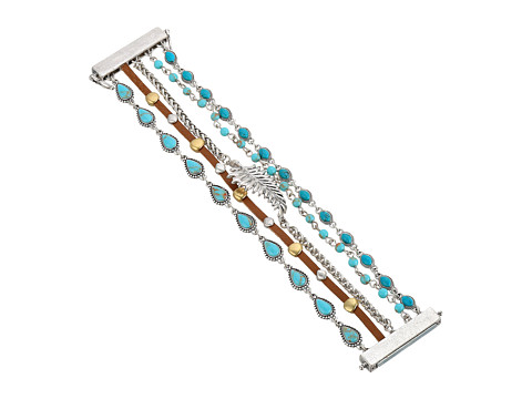 Lucky Brand Turquoise Lucky Layer Bracelet II - Two-Tone